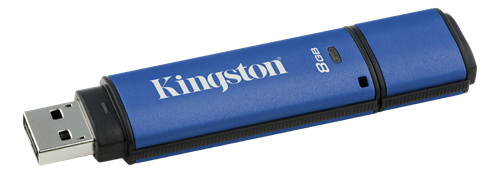 KINGSTON 8GB DTVP30 256bit AES Encrypted USB3.0