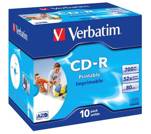 VERBATIM CD-R 700MB 52X PRINTABLE JC