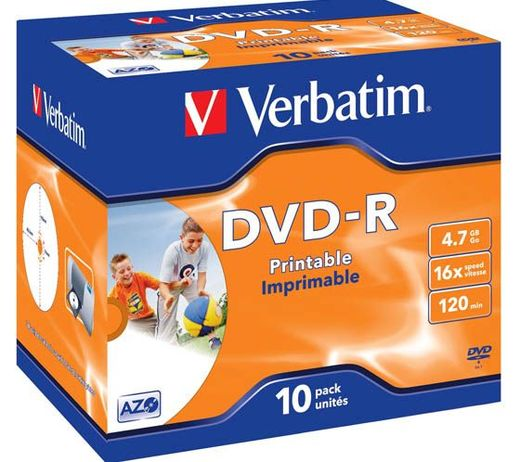 VERBATIM DVD-R 4,7GB 16X PRINTABLE JC