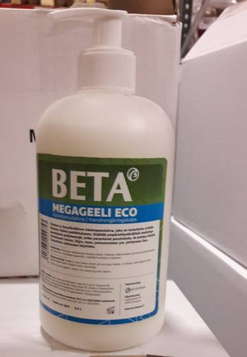 Megageeli BETA ECO 500ml, myyntierä 1 kan